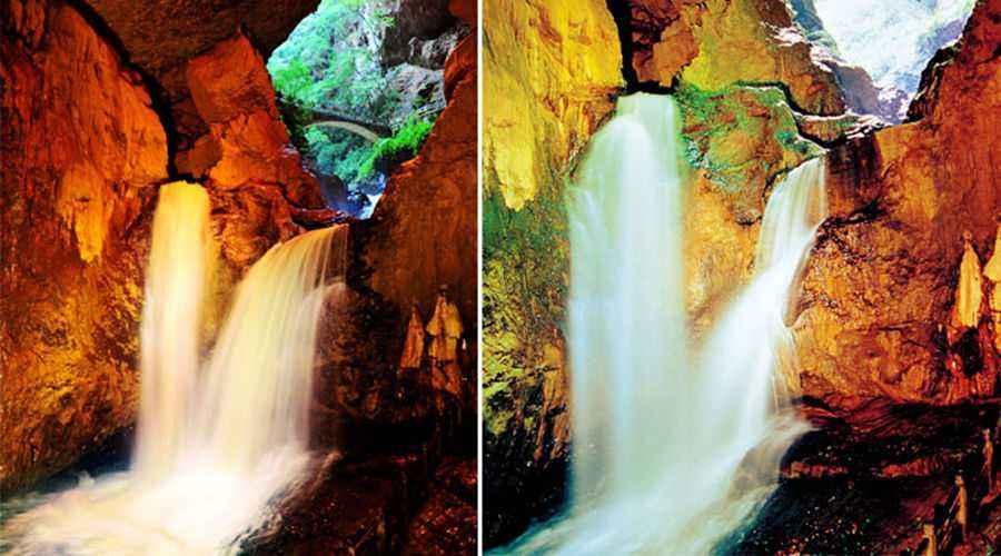 九乡风景区位于云南省宜良县九乡彝族回族乡境内.